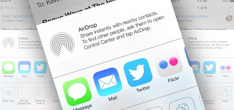 New iOS 7 to include AirDrop