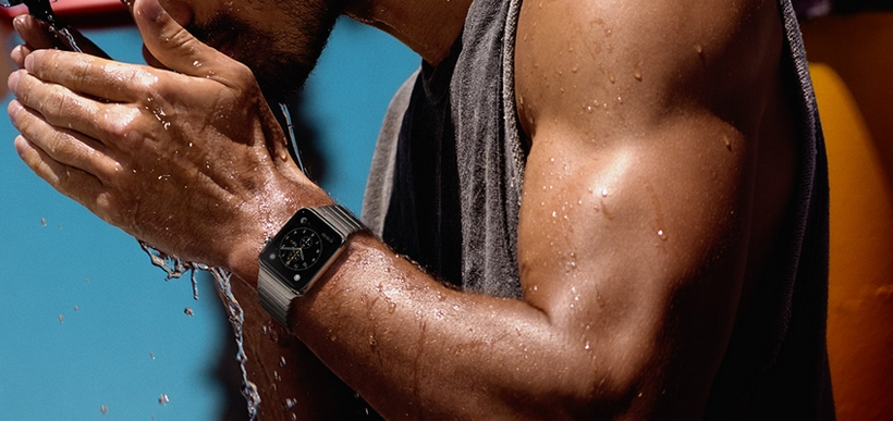 According to Apple: The Apple Watch is water resistant, not waterproof