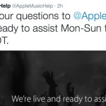 Apple Music Now on Twitter @AppleMusicHelp