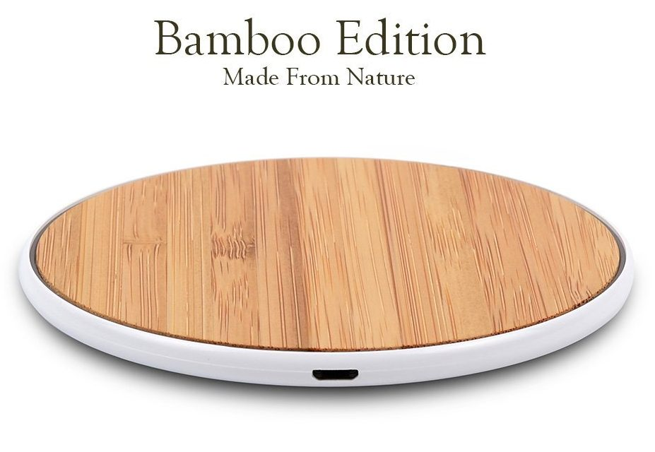 SurgeDisk Bamboo Wireless Charging Mat for iphone x iphone 8 iphone plus